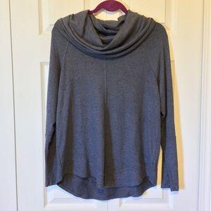 Soft Cupio Gray Cowl Neck Sweater Large